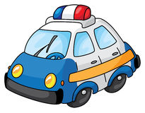 Police car. An illustration of a police car Royalty Free Stock Images