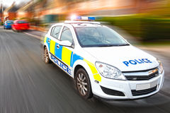 Police car. Speeding police car responding to help at an emergency Royalty Free Stock Photography