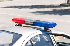 Police car. Police cop officer law emergency service car siren Royalty Free Stock Images