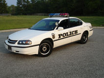 Police Car. American Police car with markings and lights Stock Photography
