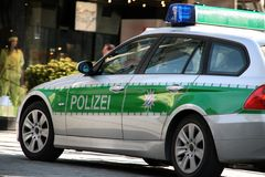Police car. In munich, germany Royalty Free Stock Photos