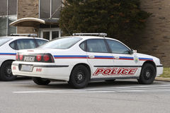 Police Car. Modern Police Car at the Station Royalty Free Stock Photography