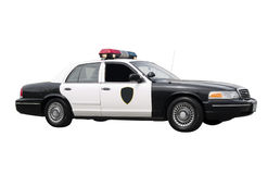 Police Car. A police car isolated on a white background Royalty Free Stock Images