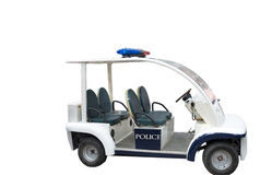 The police car. The pllice car with a white background Stock Images