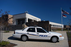 Police Car. New police car ready to help serve and protect the public Royalty Free Stock Images