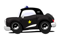 Police car. The cartoon old police car Royalty Free Stock Photo