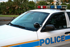 Police Car. In South Florida Stock Photo