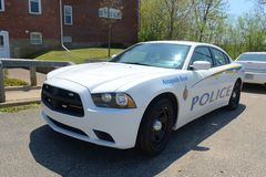 Police Car, Annapolis Royal, NS, Canada Royalty Free Stock Images