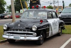 1952 Police Car Royalty Free Stock Photography