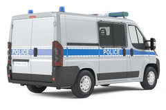 Police car back isolated Royalty Free Stock Photo