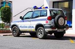 Police car, Benahavis, Spain. Royalty Free Stock Photography