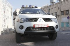 Police car in Bethlehem Stock Image
