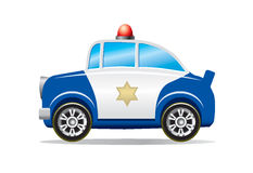 Police car cartoon stock illustration
