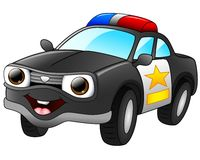 Police car cartoon Stock Images