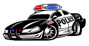 Police Car Cartoon Illustration Royalty Free Stock Images