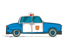 Police car cartoon. Over white background Royalty Free Stock Photo