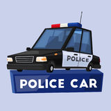 Police car. Cartoon vector illustration. Public safety transport Stock Image