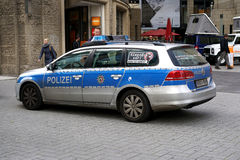 Police car. In the center of Cologne Stock Photo