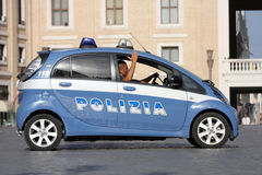 Police car in the center of Rome (Vatican City) Royalty Free Stock Images