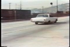 Police car chase on highway