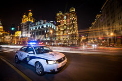The police car. In china Royalty Free Stock Photo