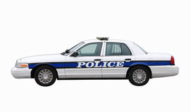 Police Car with Clipping Path Royalty Free Stock Photos