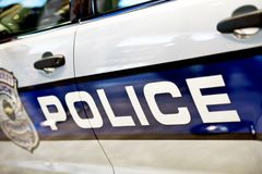 Police Car Closeup Royalty Free Stock Images