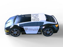 Police car. 3D CG rendering of a police car Royalty Free Stock Images