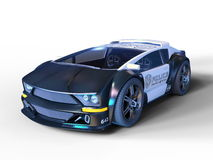 Police car. 3D CG rendering of a police car Royalty Free Stock Image