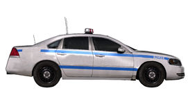 Police Car. 3D render of an American style police car royalty free illustration