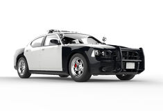 Police car without decals far front shot Royalty Free Stock Images