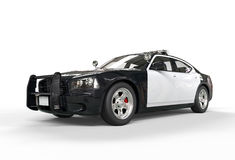 Police car without decals - front angle view Royalty Free Stock Photo