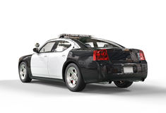 Police car without decals - tailside view royalty free stock photo