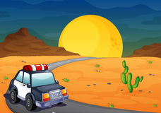 A police car at the desert Stock Photos