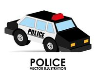 Police car design Royalty Free Stock Image