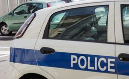 police car detail Stock Photography