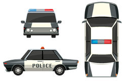 Police car from different views Royalty Free Stock Photos