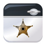 Police car door app icon Stock Image