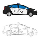 Police car drawing illustration stock photography