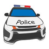 Police car drawing illustration royalty free stock image