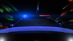 Police Car Driving (Front POV) stock footage