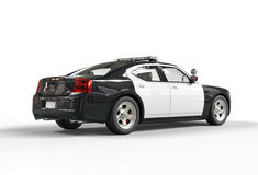Police car - far back view Stock Photos