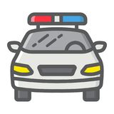 Police car filled outline icon, transport and auto Royalty Free Stock Photography