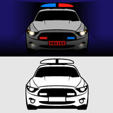 Police car with flash lights Stock Images