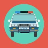 Police car flat vector illustration Royalty Free Stock Photo