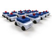 Police Car fleet concept Stock Photo