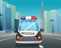 Police car on the freeway Royalty Free Stock Photos