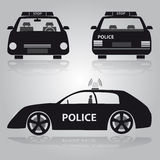 Police car from front, back and side view Stock Photography
