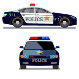 Police car front and side view Stock Photos