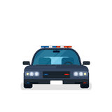 Police car front view Royalty Free Stock Images